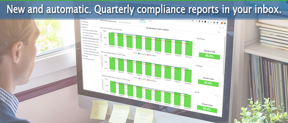 New and automatic. Emailed quarterly compliance reports.