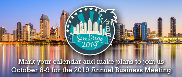 Save the date: 2019 ICAOS Annual Business Meeting in San Diego, California, October 8-9